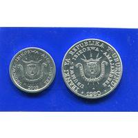Бурунди 5 франков+1 франк , UNC
