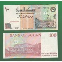 Банкнота Судан 100 динар 1994 UNC ПРЕСС
