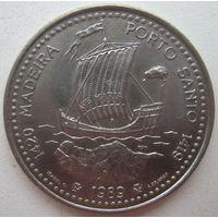 Португалия 100 эскудо 1989 г. Открытие Мадейры