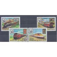 [1457] Верхняя Вольта 1979. Поезда,локомотивы. Гашеная серия.