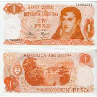 Аргентина 1 песо образца 1970-1973 года UNC p287(3)