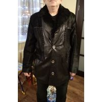 Натуральная кожа куртка длинная- см фото - 56 р