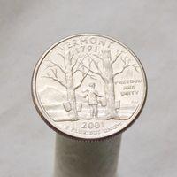 США 25 центов 2001 P Вермонт
