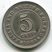 МАЛАЙЯ - 5 ЦЕНТОВ 1953
