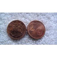 Литва 2 евроцента 2015г. распродажа