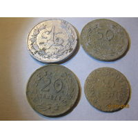 1 злотый 10,20,50 грошей ивенец полковые