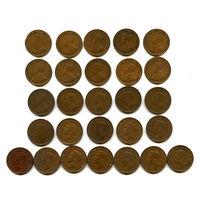Канада набор центов 1921 - 1952 17штук СОХРАН! СОСТОЯНИЕ