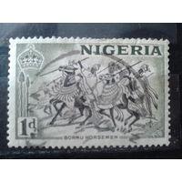 Нигерия 1953 колония Англии Туземцы-всадники