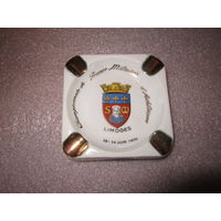 Пепельница Лимож . Limoges . 1959 герб