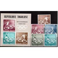 Того-1964,(Мих.453-439,Бл.15) **  , Спорт,ОИ-1964