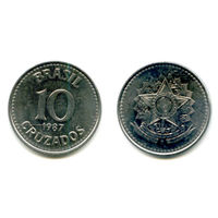 Бразилия 10  крузейро  1987 состояние