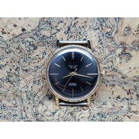 Часы Poljot de luxe,позолота au20 в люксе,редкие.Старт с рубля.