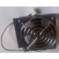 Кулер вентилятор 80 х 80 от серверного радиатора HP с креплением и грилем 4-pin