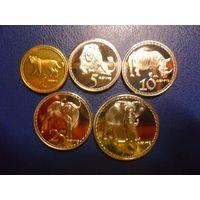 Родезия 5 монет одним лотом
