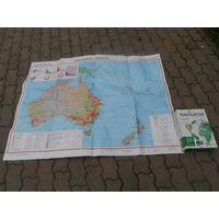 """Карта """"Австралия и Океания"""""""