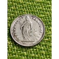Швейцария 1/2 франка 1921 г