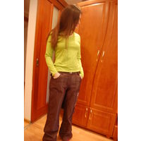 Крытые брюки на байке с модным новым дизайном Европейский р. 28 наш 44-46