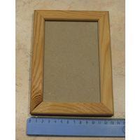 Рамка деревянная со стеклом, для фото.