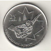 Канада 25 цент 2008 XXI зимние Олимпийские Игры, Ванкувер 2010 Сноуборд