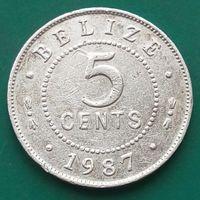 5 центов 1987 БЕЛИЗ