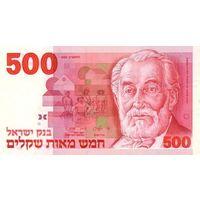 Израиль 500 шекелей 1982 г UNC