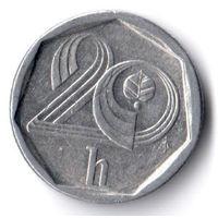 Чехия. 20 геллеров. 1996 г.