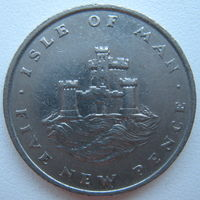 Остров Мэн 5 пенсов 1975 г. (g)