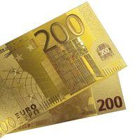 Золотая банкнота 200 евро. распродажа