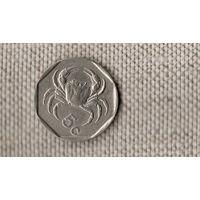 Мальта 5 центов 1991 /фауна/герб/(М*)