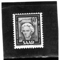 Германия. Саар. Ми-273. Людвиг ван Бетховен (1770-1827). Серия: (Саар IV).1951.