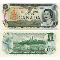 Канада. 1 доллар (образца 1973 года, P85a, Lawson-Bouey, aUNC)