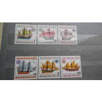 Корабли, парусники, морской флот, транспорт, техника, марки, Болгария, 1977