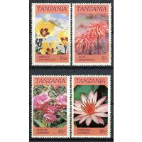 Танзания - 1986г. - Цветы - полная серия, MNH [Mi 328-331] - 4 марки