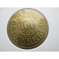 Тунис 100 миллимов 1996 года в холдере