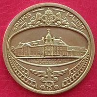Памятная медаль на посещение Королевского голландского монетного двора 1980 г.(Утрехт Нидерланды) - желтый метал