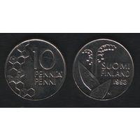 Финляндия km65 10 пенни 1993 год (M) (h01)