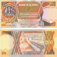 Уганда 200 шиллингов образца 1987 года UNC p32a