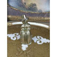Колокольчик бронзовый Старинный бронза дама в шляпе ручной работы