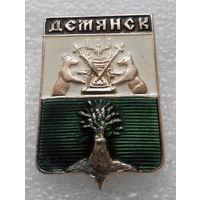 Значок. Герб города. Демянск #0571
