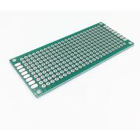Монтажная макетная плата 30х70мм (стеклотекстолит, двухсторонняя с металлизацией )