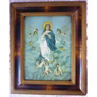 Икона католическая из Гродненской области 44х54 см.