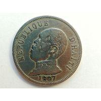 50 сантимов 1907 года. Гаити. Монета А2-6-8