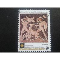 Греция 1992 мозаика из античной истории