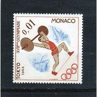 Монако.Спорт.Тяжелая атлетика.Олимпийские игры.Токио.1964.