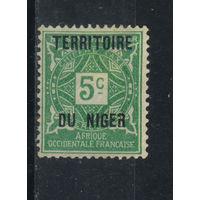 Fr Франция Колонии Нигер Налоговые 1921 Надп #1**