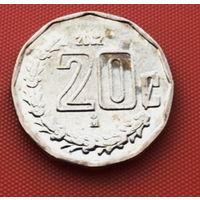 116-11 Мексика, 20 сентаво 2002 г. Единственное предложение монеты данного года на АУ