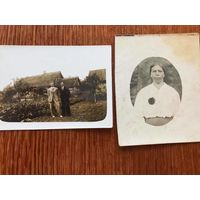 2 фото, хата, Западная Беларусь до 1939