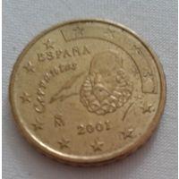 10 евроцентов, Испания, 2001