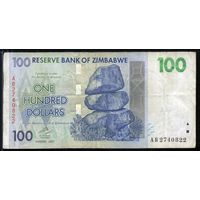 Зимбабве 100 долларов 2007 г. (Pic. 69) (2740822)  распродажа