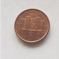 1 евроцент 2012 Италия